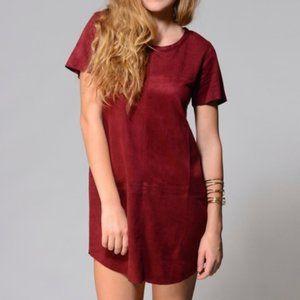 NWOT Olivaceous Vegan Shift Dress in Maroon/Red